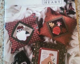Pillow Talk by Nancy Halvorsen - Art to Heart - Seasonal Primitive Quilt Applique Pattern book - Pillows - Stitchery