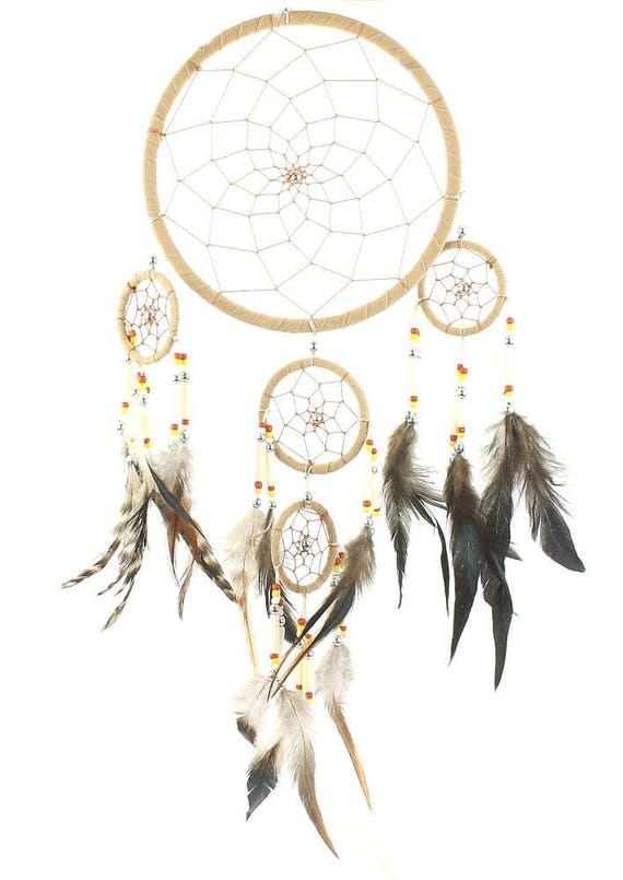 Tribal Dreamcatcher, Wall Hanging, Dreamer, Home Decor, Spiritual, Meditation, Boho, Bohemian, Gypsy, Feathers