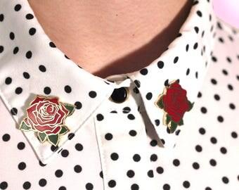 Red Rose Hard Enamel Pin