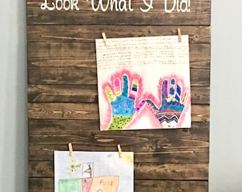 Look What I Did Display Board/ Kid Art/ art display/ Children's Art Display