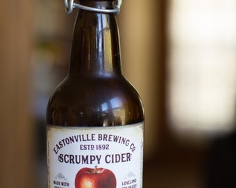 Customized Label - Homemade Apple Cider, Hard Apple Cider, Scrumpy Cider - Vintage Design Homebrew Label for Your Homemade Apple Cider
