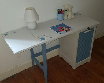 Office blue and white child
