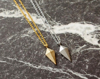 Arrowhead Necklace, Diamond Shape Necklace, Small Necklace, Daily Necklace, Womens Necklace