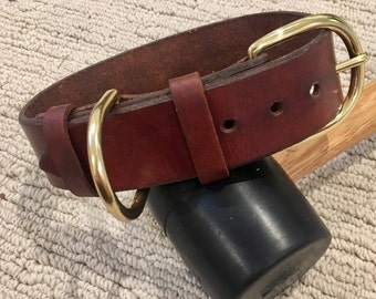Leather Dog Collar - Ready To Ship