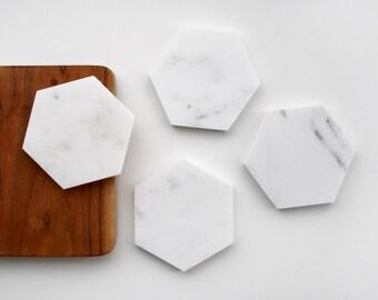 Italian Marble Hexagonal Coasters