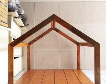 handcrafted wood cat u0026 dog housepet frame indoor cabin