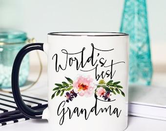 Worlds Best Grandma, Grandma Mug, Gifts for Grandma, Grandma Coffee Mug, Grandmother Gift, Coffee Mug, Nana Mug, worlds best nana, nana gift