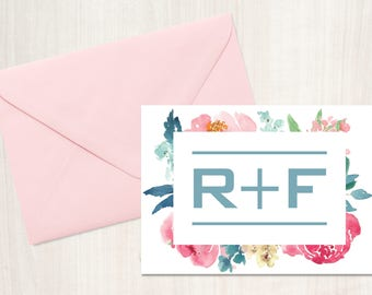 Rodan and Fields Modern Floral Thank You Card Updated Logo