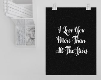 I Love You More Than All The Stars Postcard/Mini Print