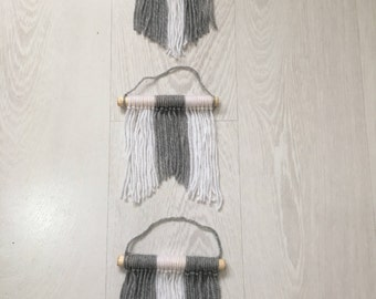 3 set wool wall hanging, chic home decor