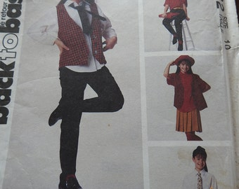 McCalls 6122 Girl's Outfits Sewing Pattern