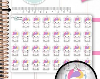 Kawaii Unicorn Stickers Unicorn Planner Stickers Planner Stickers Kawaii Stickers Erin Condren Decorative Stickers Live Planner NR1384