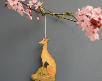 Greyhound dog hanging decoration