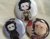 Kylo Ren Fan Art Pinback Buttons (Set 1)