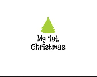 my 1st christmas svg dxf jpeg png file stencil monogram frame silhouette cameo cricut clip art commercial use