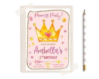 Princess Party Invitations, Princess Party Invitation, Princess Birthday Invitations, Princess Invitation, Princess Invites, Princess ideas,