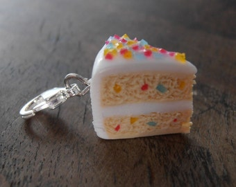 Charm's share of cake multicolor - polymer clay (fimo, cernit sculpey)