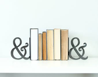 Ampersand / And Bookend  |  modern farmhouse rustic metal shelf decor