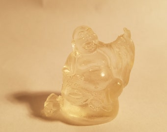 Clear Buddha Figurine - Make it a MAGNET for free! Just ask!