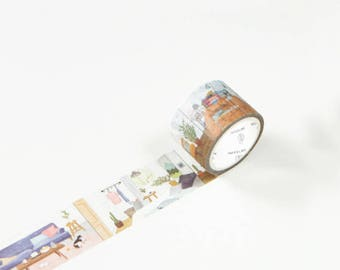 Cozy Homes - Home Furnitures - Furniture Washi Tape - Interior Design - Home Washi Tape (30mm X 5m)