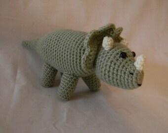 Triceratops Dinosaur - crochet amigurumi stuffed toy