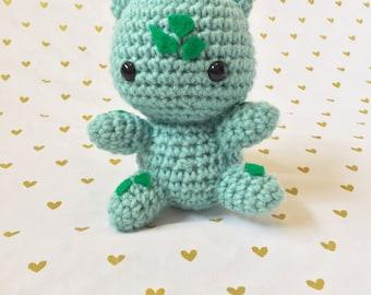 Bulbasaur, Crochet bulbasaur, Amigurumi bulbasaur