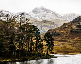 Mountain Photography - Lake District - Landscapes - Wilderness - Snow - Nature Photography - National Park - By the Shore - 0085