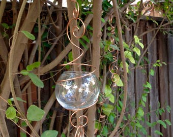Hanging globe / hanging lantern / hanging terrarium / wedding decoration / five links