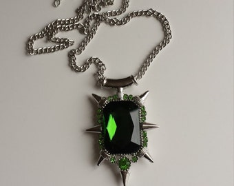 Zelena the wicked witch green crystal pendant. Once upon a time.