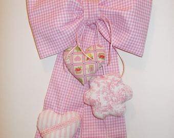 STITCHABLE scacchetti pink girl