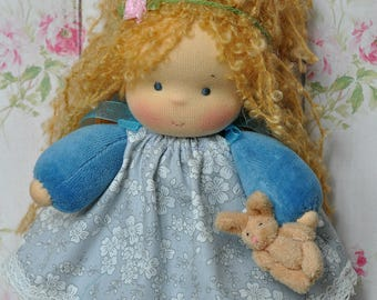 "Waldorf baby doll for kids Blueberry 7,87"" (20 cm) MADE TO ORDER"