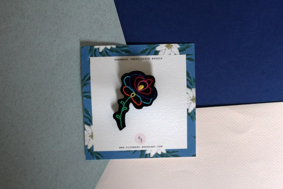 """Embroidered brooch """" Russian inspiration no5 """""""