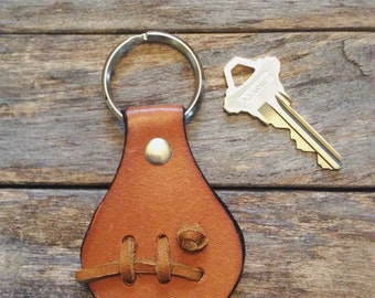 Leather Key Fob, Leather Keychain, Recycle Leather, Knot, Boyfriend Gift,  For Him, Appreciation Gift, Made in USA
