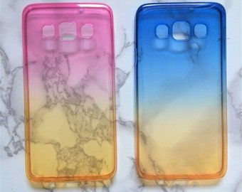 Samsung Galaxy Gradient Pink Blue Yellow Case for S7 S6 A3 S3