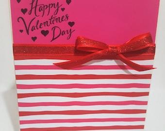 Valentine's Day Fuschia, Valentines Day Card, Love Card, Handmade Greeting Card