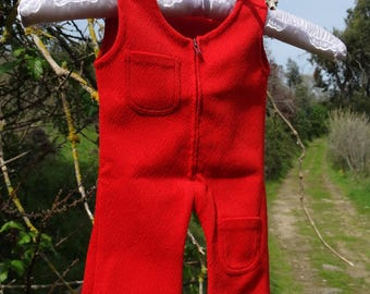 Boho Baby Romper Baby Summer bodysuit baby boy romper suit retro baby girl romper red baby romper one piece body suit 3-6m vintage 1970s