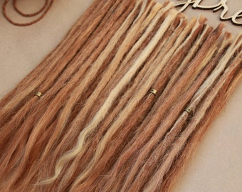 Human hair dreadlock extensions  30 pieces