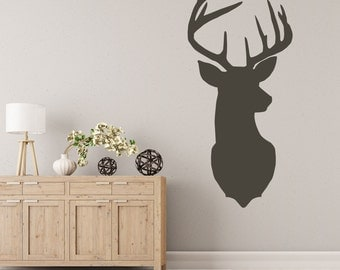 Stag Head Wall Decal