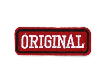Original Patch Sew On / Iron On DIY Patch Embroidered Applique 7.1x2.7cm - RP538