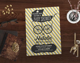 Baby | Baby shower | Invitation | Vintage Style | Baby Shower Invite | Baby Shower Invitation