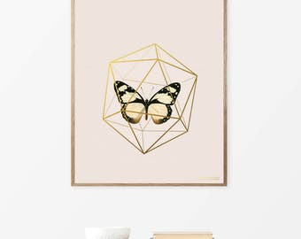 Prints, Poster, Butterfly, Printable Art, Wall Art, Art, Home Decor, Digital Prints, Instant Download, Bedroom Decor, Print