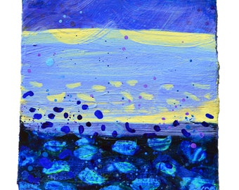 ORIGINAL Landscape Painting No 52 - Jewel Series by Sasha Barnes,  Acrylic Painting, Contemporary Landscape, Blue Painting, British Art