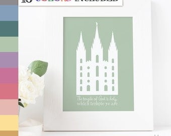 LDS Temple, The temple of God is holy, which temple ye are, Temple print, Instant Download, Digital Printable, LDS Digital Wall Art Print