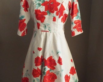 RED ROSE Cotton Dress Little Girls Size 10