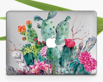 Tropical Apple Macbook Air Case Cactus Laptop Hard Cover MacBook Air 11 Case MacBook Pro 13 Case Macbook Case Pro 15 Laptop Accessories m024