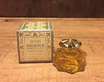 Unused, Vintage Avon, Regence, Perfume. 1/8 fl.oz., Vintage Avon, Womens Perfume, Collectible Glass, New in Box, Avon, Vintage Fragrance.