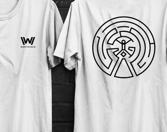 WestWorld t-shirt, Maze, Front + Back,new hbo series, HBO tee, westworld tee