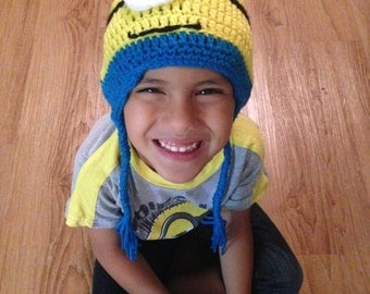 Minion Beanie- Hat for baby, toddler, adult - Winter Hat - Baby Shower - Gift - Birthday - hat for child and adult