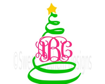 "Shop ""monogram christmas tree svg"" in Patterns & Tutorials"
