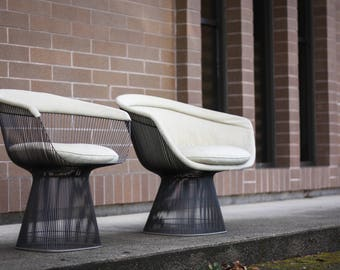 Warren Platner for Knoll Side Chair and Lounge Chair